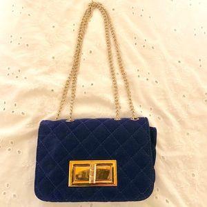 Velour royal blue purse 🔥🔥